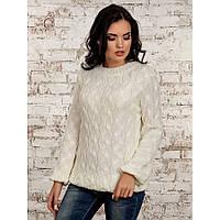 Модный женский свитер-белый