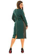 Ж5035 Платье со вставками эко-кожи 50,52,54,56, фото 3