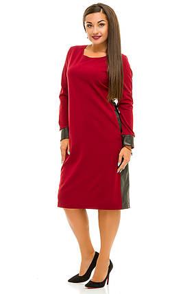 Ж5035 Платье со вставками эко-кожи 50,52,54,56, фото 2