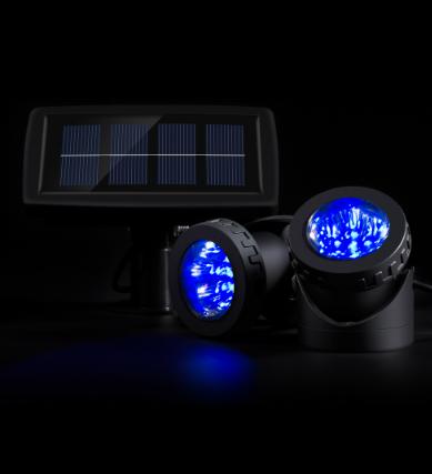 Подводный фонарь на солнечной батарее АМФИБИЯ 2 синий