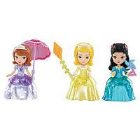 Disney Набор мини кукол Принцесса София и Амбер, Хиль де Гард Sofia the First Princess Sofia & Friends Figures Set Amber & Hildegard