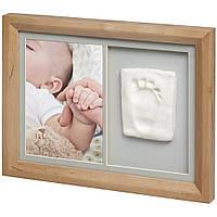 Baby art - Настенная рамка с набором для создания отпечатка ручки или ножки малыша, натуральная
