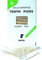 Зубочистки в индивидуальной упаковке с ментолом (1000шт./уп., 50уп./ящ.)