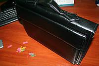 Папка портфель для документов кожаная 7112, иск.кожа., черн 28*36*6