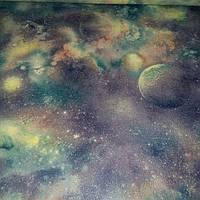Обои Сатурн 313-12 винил горячего тиснения длина рулона 15 м ширина 1.06 м=5 полос по 3 м каждая