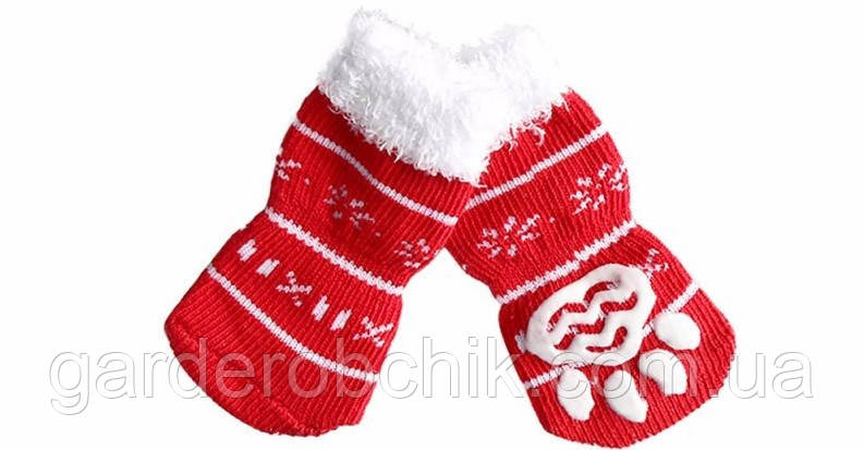 "Носки для собаки ""Санта"". Одежда для собак"