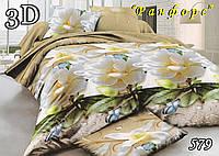 Двуспальное  постельное белье ТЕТ-А-ТЕТ 579 ранфорс, фото 1