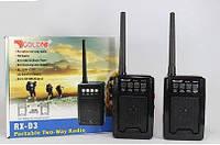 Комплект раций PTT с FM приемником, GOLON RX-D3 (MP3/USB/SD/FM/рация)