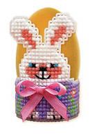 Наборы для плетения и вышивания Riolis 1531АС Поставка под яйцо Зайка
