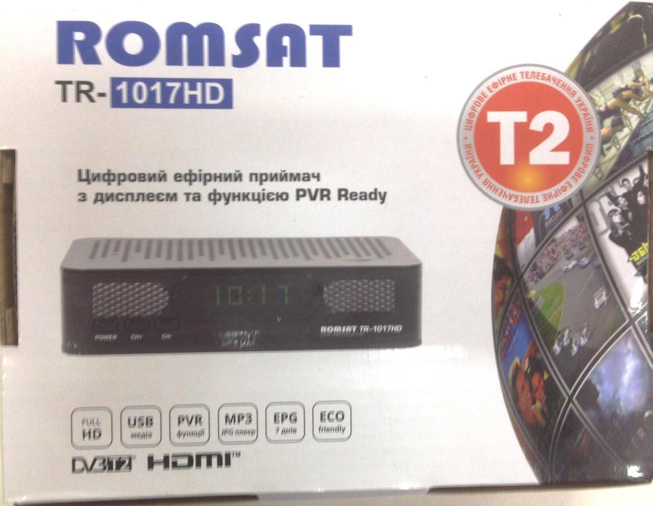 ТВ-ресивер DVB-T2 Romsat TR-1017HD тюнер