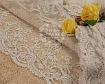 Кружево Блюмарин бежевое с мелкими цветами, ширина 12 см, фото 2