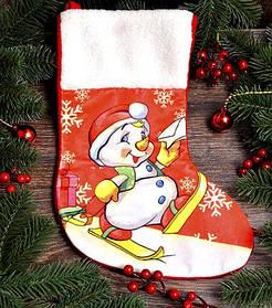 Рождественский носок для подарков большой 1780