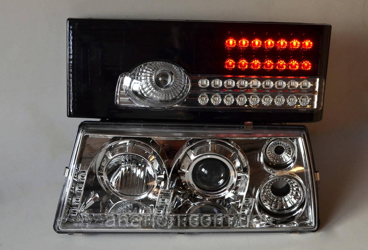 Хромированные передние+черные задние фары на ВАЗ 2109 №4