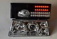 Хромированные передние+черные задние фары на ВАЗ 2109 №4, фото 1