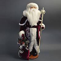 Дед Мороз под елку  53 см белый посох 0455