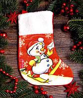 Новогодний носок для подарков средний 1780-1