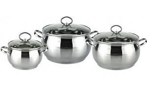 Набор посуды Bohmann, 6 предметов. 0602BH/4, цвет стальной
