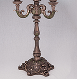 """Подсвечник """"Причудливый цветок"""" (42 см) Бронза Veronese, 75656 A4, фото 3"""