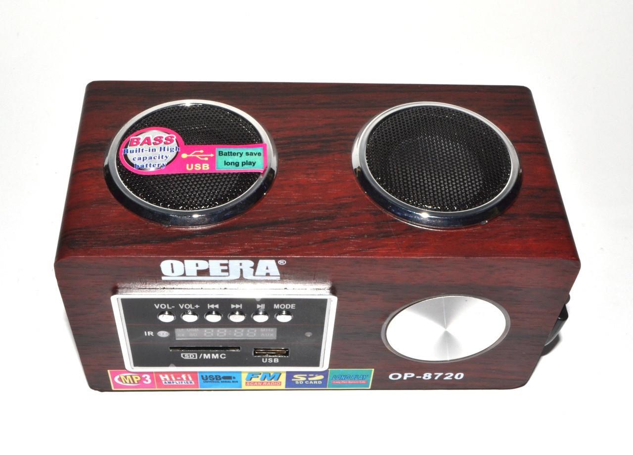 Радиоприемник OPERA OP-8720 калонка USB