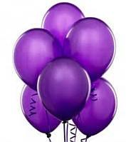 Воздушные шары латексные фиолетовые, пастель, цвет синий 26 см.в уп. 10 шт.