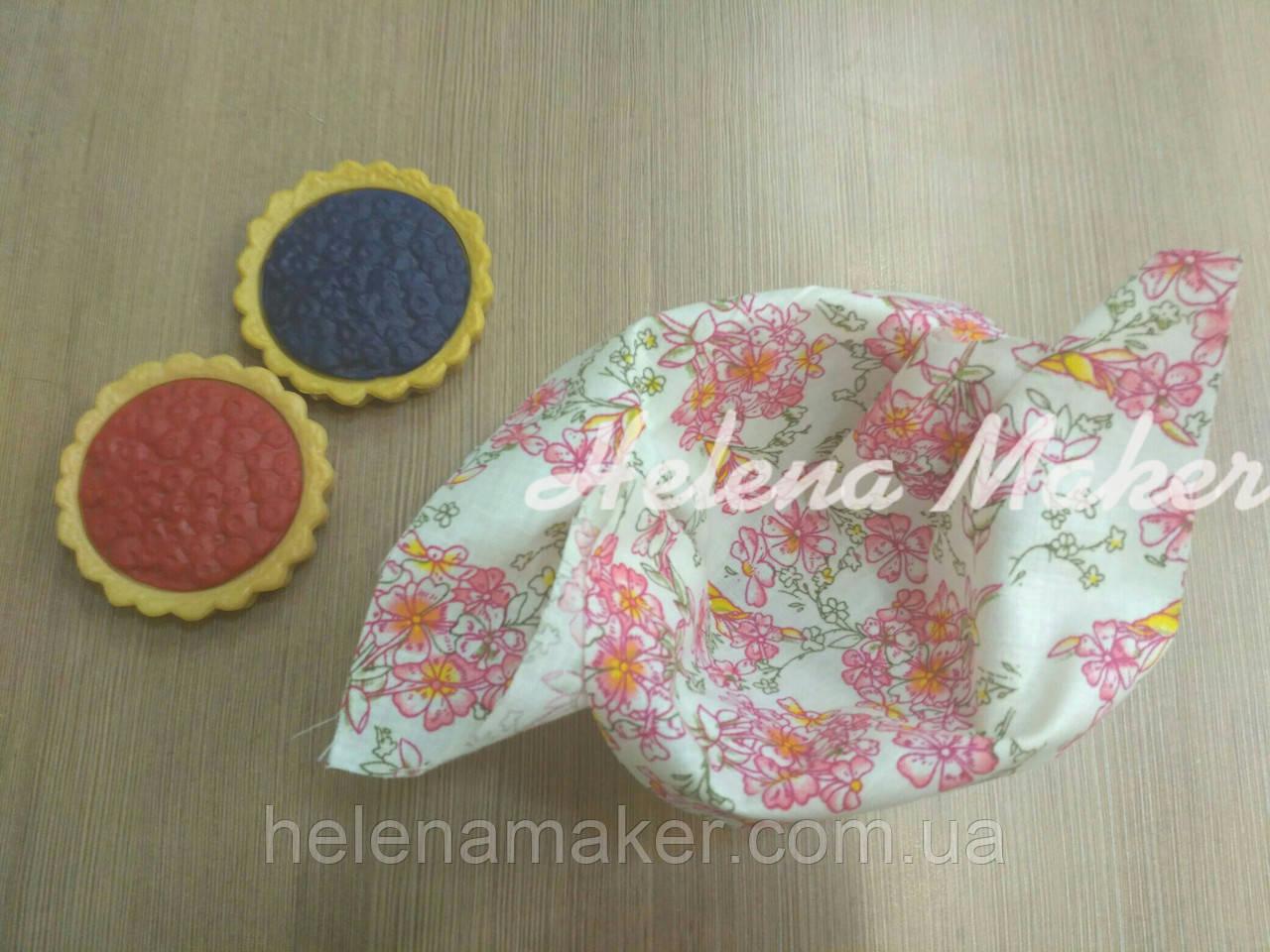 Відріз тканини для рукоділля Рожевий квітковий візерунок
