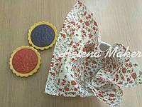 Отрез ткани для рукоделия Красный пэчворк