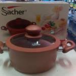 Каструля с кришкой,Sacher Teflon 20 см, 2,5 литра