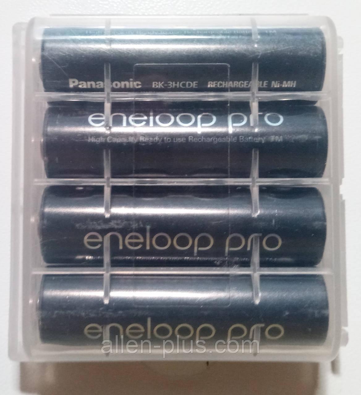 Комплект аккумуляторов (4 шт) Panasonic Eneloop Pro AA 1,2V (min 2500mAh) BK-3HCDE Ni-MH