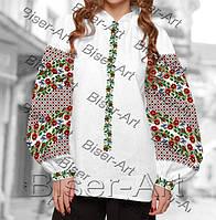 Заготовка для вишивки жіночої сорочки бохо В-71 на габардині e9963afc3a0f8