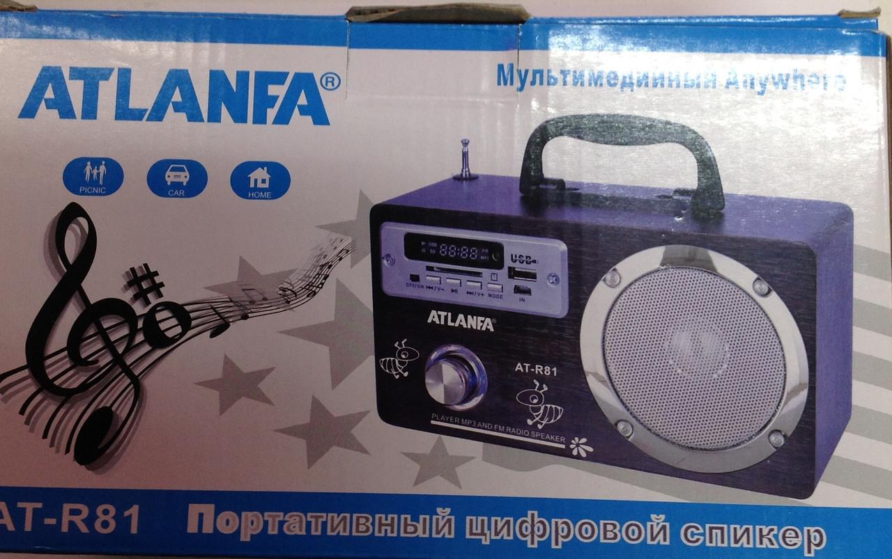 Колонка приемник AT R81  фонарь Atlanfa