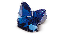 Стеклянные камни для декора синий Cobalt