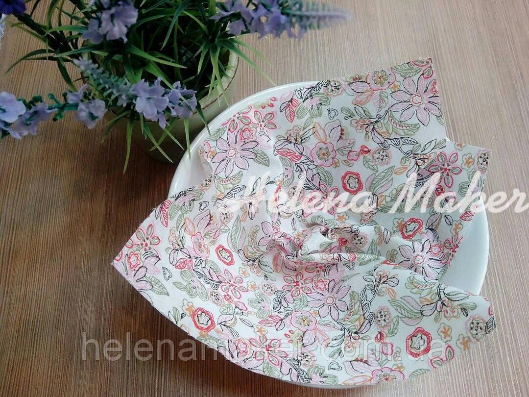 Отрез ткани для рукоделия Цветочный принт