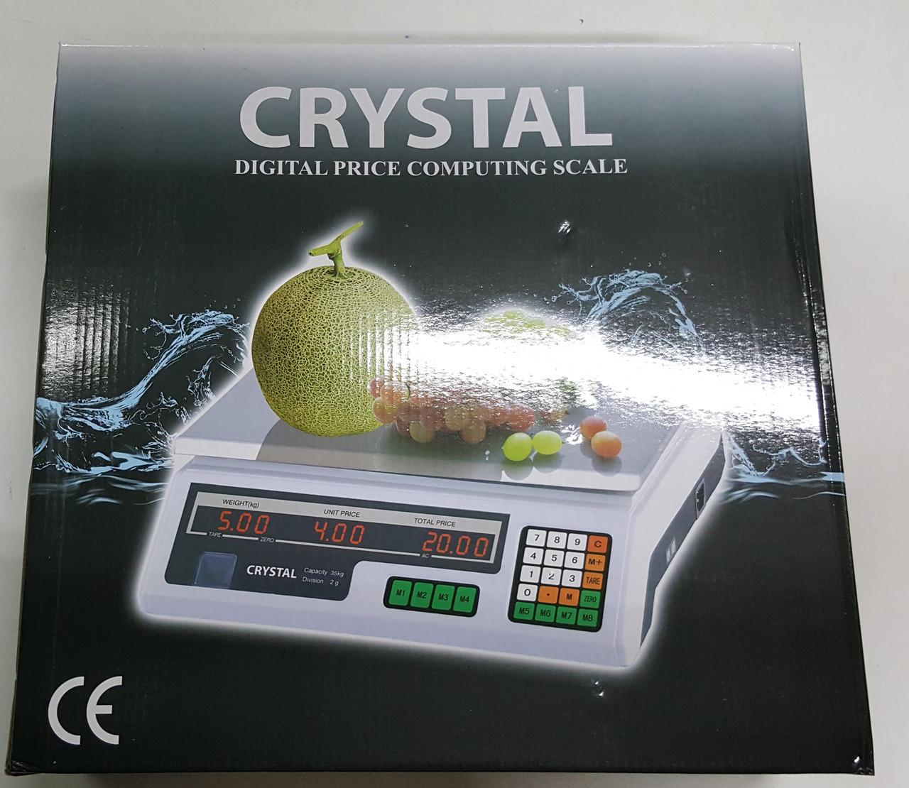 Весы Сrystal-8301l  промышленные 40 50 кг двухстороннние 6v