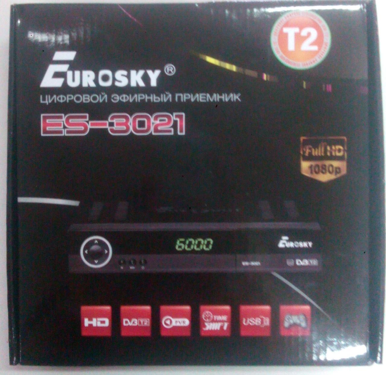 Цифровой эфирный DVB-T2 ресивер тюнер-Eurosky ES-3021