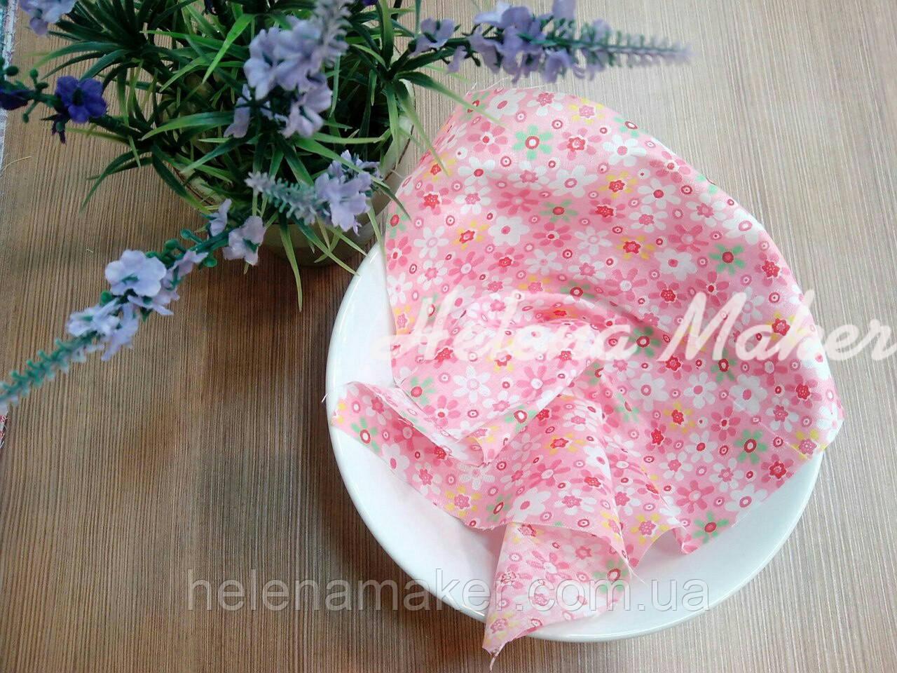 Отрез ткани для рукоделия Розовый в цветочек