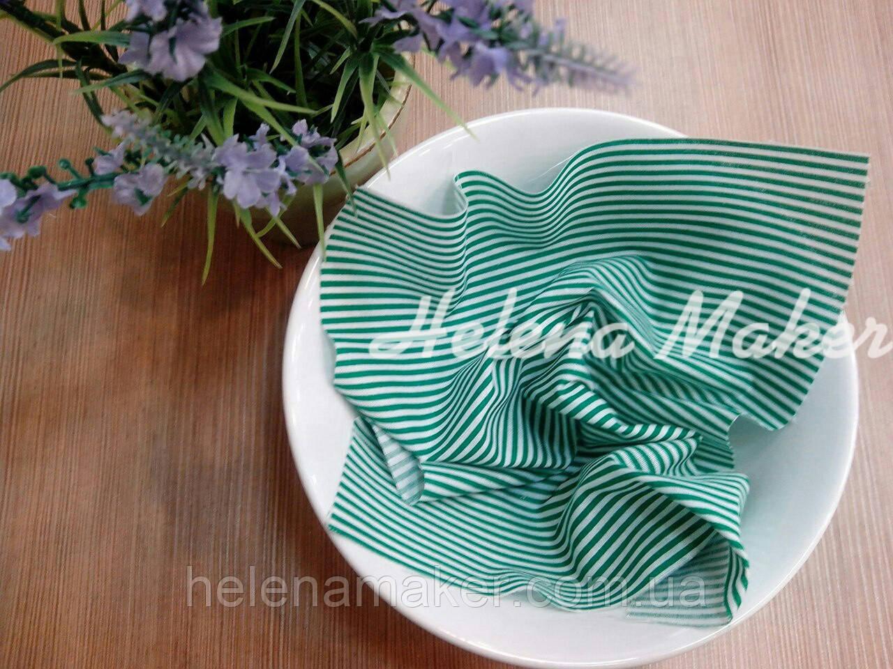Отрез ткани для рукоделия Зеленая полоска