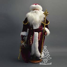 Дед Мороз 53 см золотой посох 0454