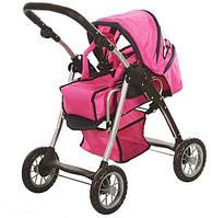 Іграшкова коляска для ляльок 9388, кошик для покупок, складана ручка, переносна люлька, іграшкові коляски, фото 1