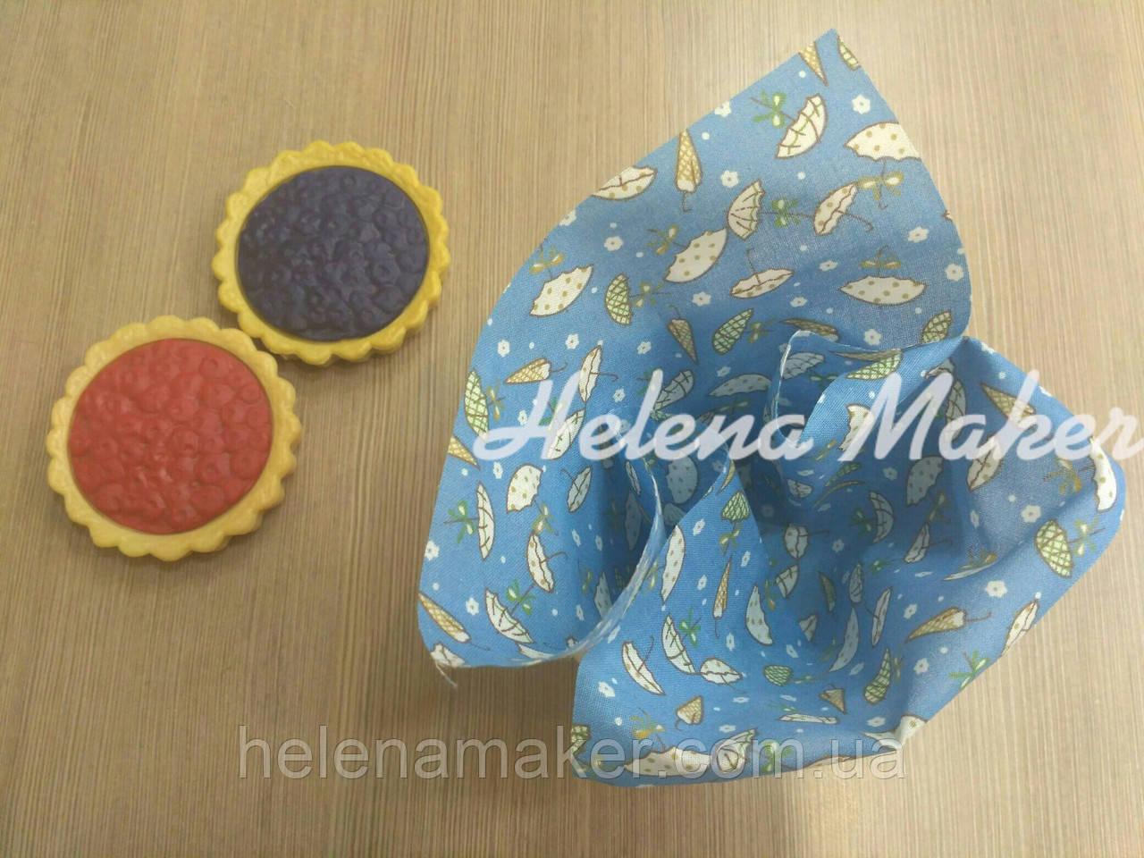 Отрез ткани для рукоделия Голубой в зонтики