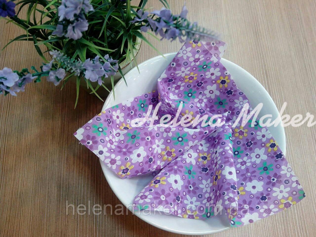 Отрез ткани для рукоделия Фиолетовый в цветочек
