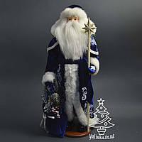 Святой Николай 53 см в синей шубе с белым узором 0461
