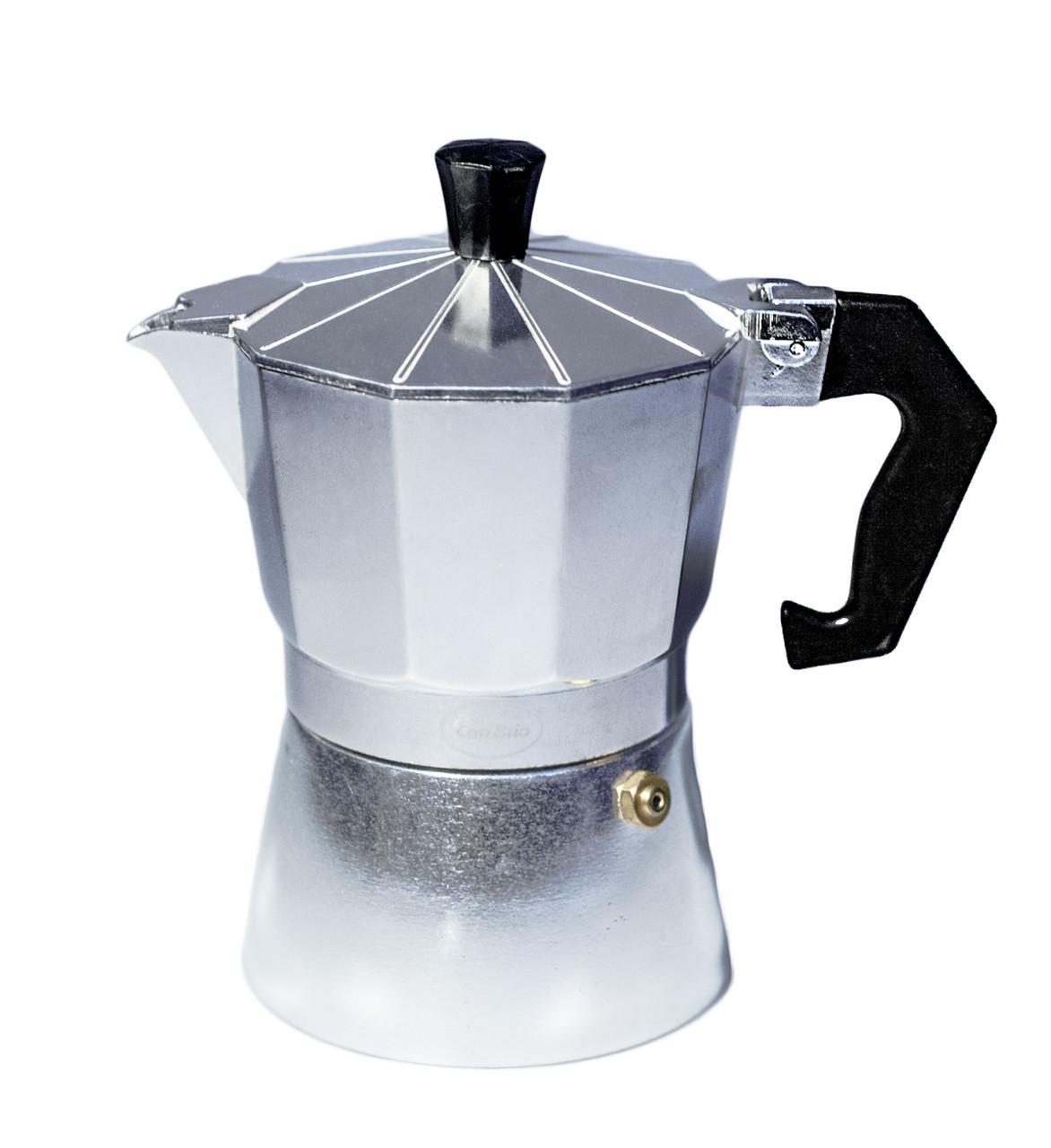 Кофеварка гейзерная Con Brio CB-6203 150мл. 3 чашки
