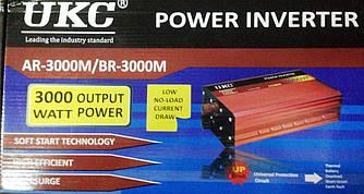 Инвертор преобразователь UKC 12V-220V AR-3000M синусоидный 3000W