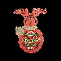Елочная игрушка для вышивания бисером FLE-019