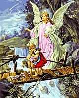 """Раскраски по номерам """"Ангел хранитель"""" [40х50см, С Коробкой]"""