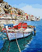 """Раскраски по номерам """"Лазурные воды Греции"""" [40х50см, С Коробкой]"""