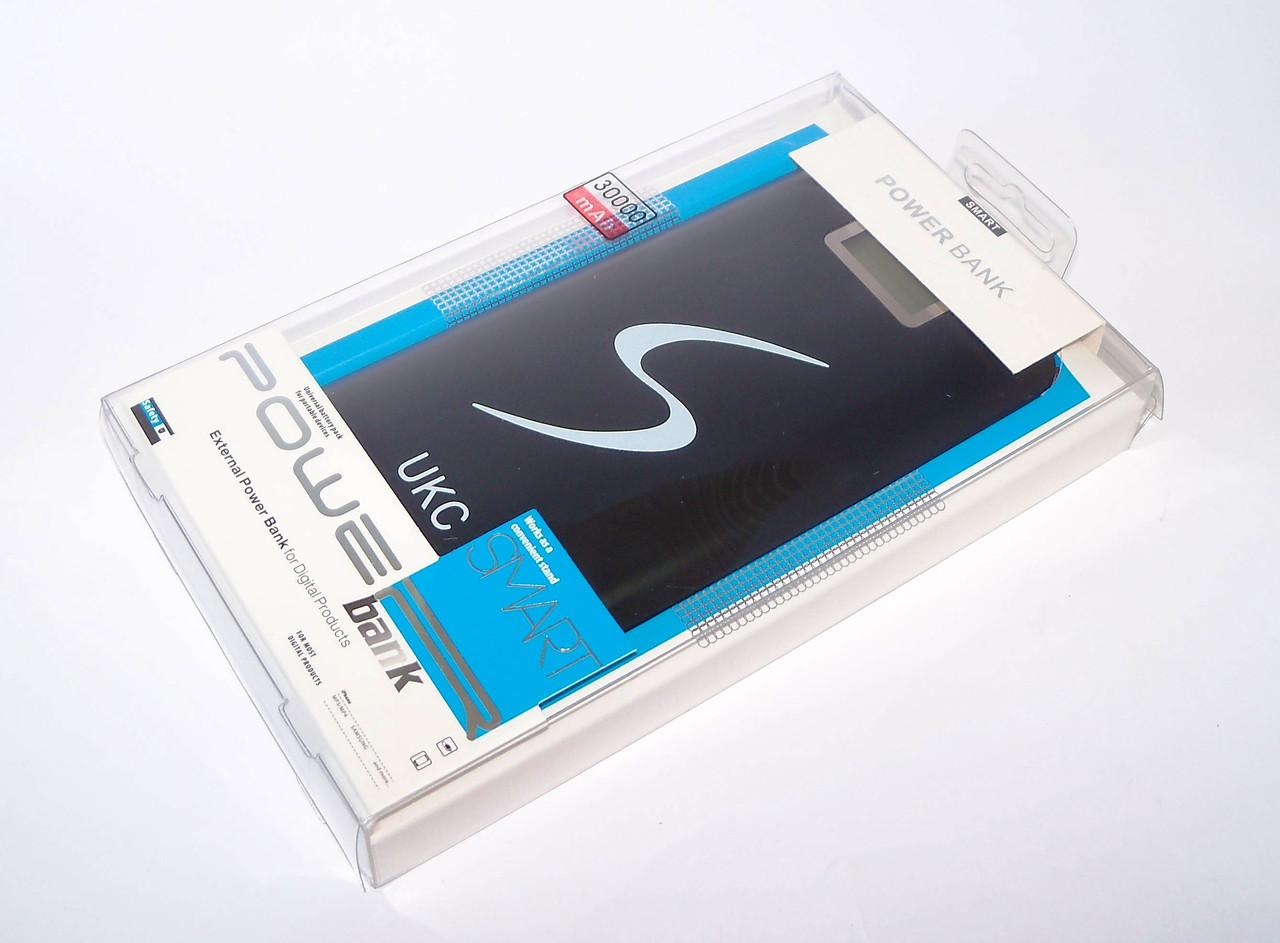 Портативний зарядний 30000mAh Power Bank зовнішній акумулятор UKC 2 роз'єми для зарядки