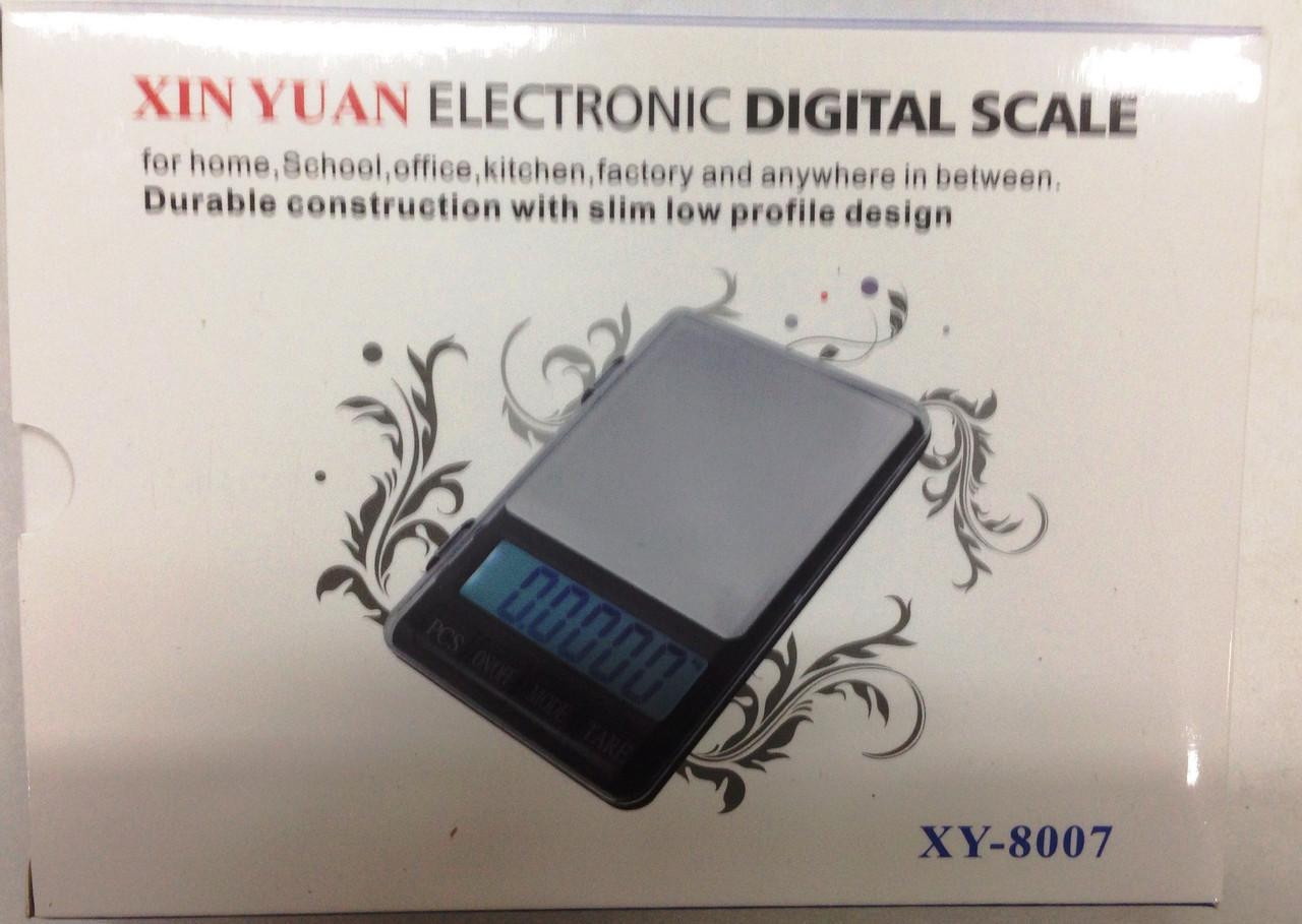 Весы с цифоровым дисплеем с 0.01 гр до 600 г  XY 8007