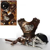 Детские игровой набор рыцаря JT 339 A1, меч, шлем, доспехи.