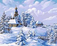 """Картины раскраски по номерам """"Середина зимы"""" набор для творчества"""